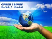 Free Powerpoint Templates GREEN ISSUES Spotlight 7 Module