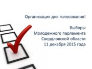 Организация дня голосования! Выборы Молодежного парламента Свердловской области