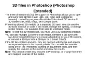 3 D files in Photoshop (Photoshop Extended)