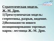 Стратегическая модель Ж. -М. Дрю. 1) Трехступенчатая модель: