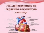 ЛС, действующие на сердечно-сосудистую систему I. Средства, применяемые