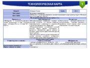 ТЕХНОЛОГИЧЕСКАЯ КАРТА 1 Предмет История России Класс 7
