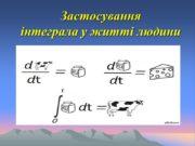 Застосування інтеграла у житті людини Короткі історичні відомості