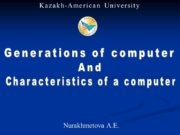 Generations of computer And Characteristics of a computer