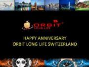 HAPPY ANNIVERSARY ORBIT LONG LIFE SWITZERLAND HAPPY