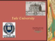Yale University Work was executed by the student