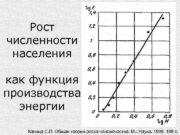 Рост численности населения как функция производства энергии Капица
