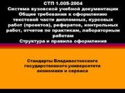 СТП 1.005-2004 Система вузовской учебной документации Общие требования