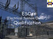 ESO Electrical System Owner Qualification 1 ESO