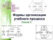 Формы организации учебного процесса Лекция 5 Форма