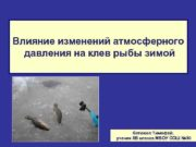 Влияние изменений атмосферного давления на клев рыбы зимой
