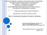 Дисциплина: «Основы трудового права» Тема: «Основные положения трудового