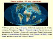 Кінець крейди 65 млн років тому 70