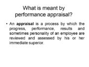 What is meant by performance appraisal? An appraisal