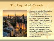 The Capital of Canada n Ottawa is the