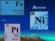 Железо Никель Платина Электронная формула