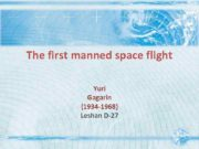The first manned space flight Yuri Gagarin 1934