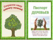 Паспорт ДЕРЕВЬЕВ Береза дуб тополь ива осина черемуха
