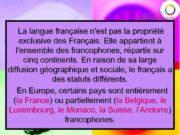 La langue française n est pas la propriété