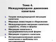 11 Тема 4.  Международное движение капитала 1.