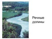 Речные долины Формы рельефа речных долин Широко распространены