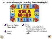 Activate: Games for Learning American English  Grammar