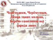 МАУК ЦБС города Кирово-Чепецка Центральная городская библиотека им