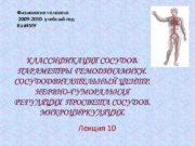 Физиология человека 2009 -2010 учебный год Каз НМУ