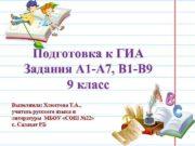 Подготовка к ГИА Задания А 1 -А 7