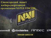 Спонсорский пакет кибер-спортивной организации NATUS VINCERE