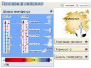 Тепловые явления Шкалы температур Электронный горячий теплый холодный