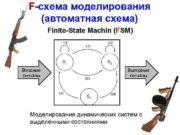 F-схема моделирования автоматная схема Finite-State Machin FSM Входные