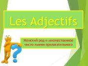 Les Adjectifs Женский род и множественное число имени