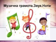 Музична грамота Звук Ноти Музичний звук