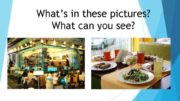 What s in these pictures What can you see