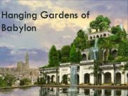 Hanging Gardens of Babylon The