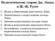 Педагогические теории Дж Локка и Ж -Ж Руссо