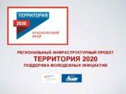 РЕГИОНАЛЬНЫЙ ИНФРАСТРУКТУРНЫЙ ПРОЕКТ ТЕРРИТОРИЯ 2020 ПОДДЕРЖКА МОЛОДЕЖНЫХ ИНИЦИАТИВ