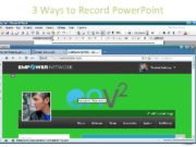 3 Ways to Record Power Point From within