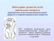 Мониторинг развития детей дошкольного возраста диагностика психического развития