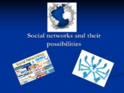 Social networks and their possibilities Our team: Maryna