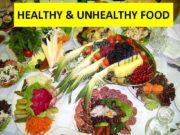 HEALTHY UNHEALTHY FOOD All food is