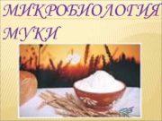 МИКРОБИОЛОГИЯ МУКИ МУКА 1 ПИЩЕВОЙ ПРОДУКТ ПОЛУЧЕННЫЙ