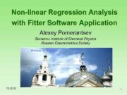 Non-linear Regression Analysis with Fitter Software Application Alexey