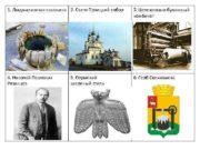 1 Людмилинская скважина 2 Свято-Троицкий собор 3 Целлюлозно-бумажный