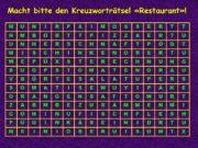 Macht bitte den Kreuzworträtsel «Restaurant»! Macht bitte den