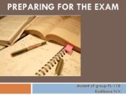 PREPARING FOR THE EXAM student of group FL-11