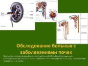 Обследование больных с заболеваниями почек Женский мочеиспускательный канал