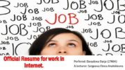 Official Resume for work in Internet Perfored Davydova