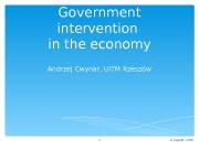 Government intervention in the economy Andrzej Cwynar, UITM